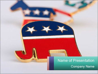 Republican Party PowerPoint Template - Slide 1