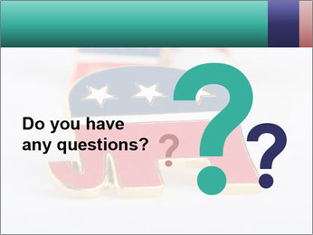 Republican Party PowerPoint Template - Slide 96