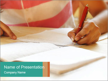 Schoolgirl PowerPoint Template - Slide 1