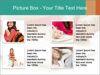 Schoolgirl PowerPoint Template - Slide 14
