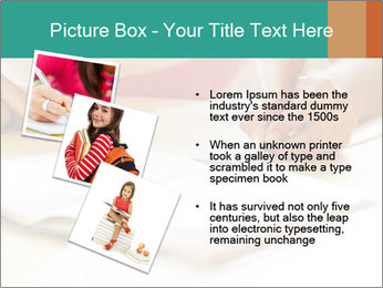 Schoolgirl PowerPoint Template - Slide 17