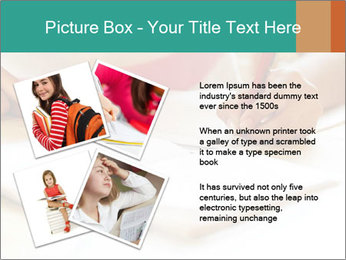 Schoolgirl PowerPoint Template - Slide 23