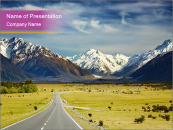 Alps PowerPoint Template - Slide 1