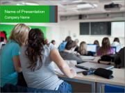 Female college student PowerPoint Template