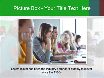 Female college student PowerPoint Template - Slide 16