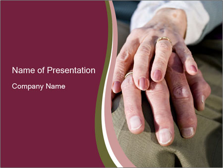Hands of senior couple PowerPoint Templates
