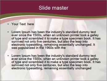 Hands of senior couple PowerPoint Templates - Slide 2