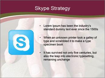 Hands of senior couple PowerPoint Templates - Slide 8