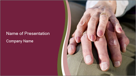 Hands of senior couple PowerPoint Template