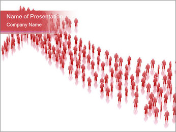 3D render business people PowerPoint Template - Slide 1