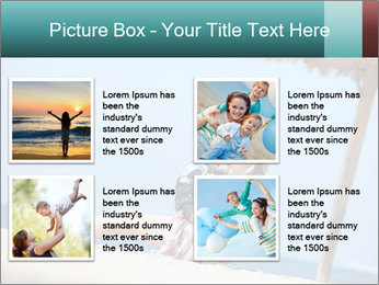 Family resting at beach PowerPoint Template - Slide 14