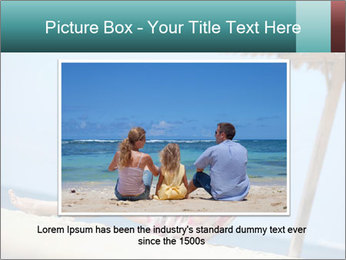 Family resting at beach PowerPoint Template - Slide 15