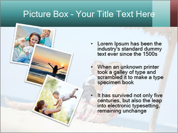 Family resting at beach PowerPoint Template - Slide 17
