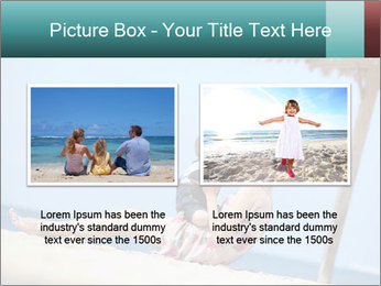 Family resting at beach PowerPoint Template - Slide 18