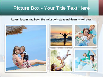 Family resting at beach PowerPoint Template - Slide 19
