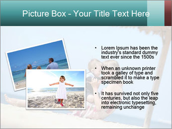Family resting at beach PowerPoint Template - Slide 20