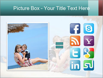Family resting at beach PowerPoint Template - Slide 21