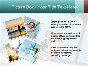 Family resting at beach PowerPoint Template - Slide 23