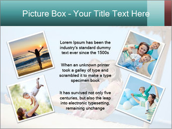 Family resting at beach PowerPoint Template - Slide 24