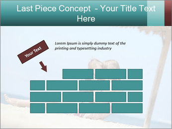 Family resting at beach PowerPoint Template - Slide 46