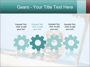 Family resting at beach PowerPoint Template - Slide 48