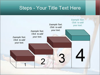 Family resting at beach PowerPoint Template - Slide 64