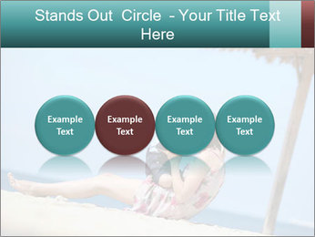 Family resting at beach PowerPoint Template - Slide 76