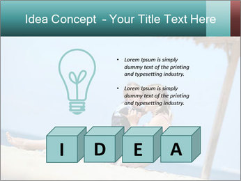 Family resting at beach PowerPoint Template - Slide 80
