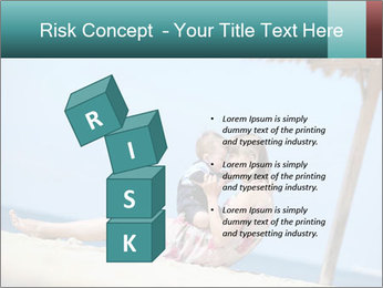 Family resting at beach PowerPoint Template - Slide 81