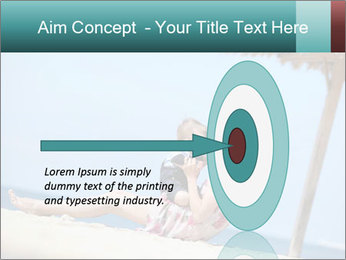 Family resting at beach PowerPoint Template - Slide 83