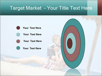 Family resting at beach PowerPoint Template - Slide 84