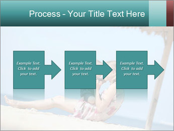 Family resting at beach PowerPoint Template - Slide 88