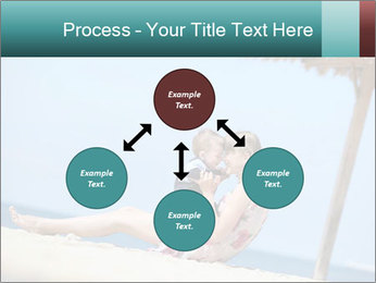 Family resting at beach PowerPoint Template - Slide 91