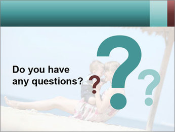 Family resting at beach PowerPoint Template - Slide 96
