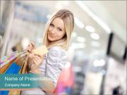Smiling blonde in shop PowerPoint Template