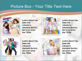 Smiling blonde in shop PowerPoint Templates - Slide 14