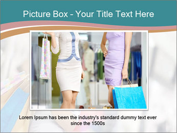 Smiling blonde in shop PowerPoint Templates - Slide 15