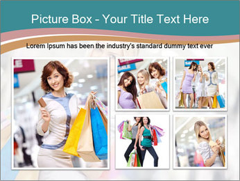 Smiling blonde in shop PowerPoint Templates - Slide 19