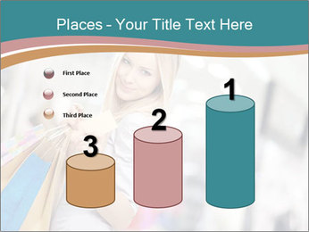 Smiling blonde in shop PowerPoint Templates - Slide 65