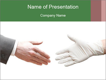 A doctor shaking hands PowerPoint Template - Slide 1