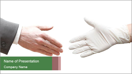 A doctor shaking hands PowerPoint Template