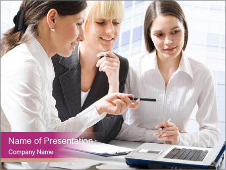 Women discussing PowerPoint Templates