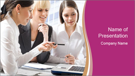 Women discussing PowerPoint Template