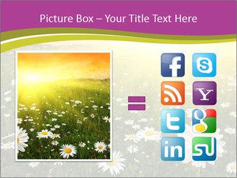 Flower field PowerPoint Template - Slide 21