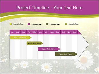 Flower field PowerPoint Template - Slide 25