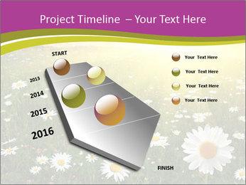Flower field PowerPoint Template - Slide 26