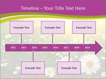 Flower field PowerPoint Template - Slide 28