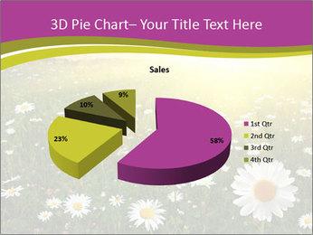 Flower field PowerPoint Template - Slide 35