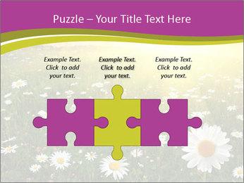 Flower field PowerPoint Template - Slide 42