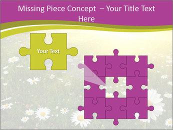 Flower field PowerPoint Template - Slide 45